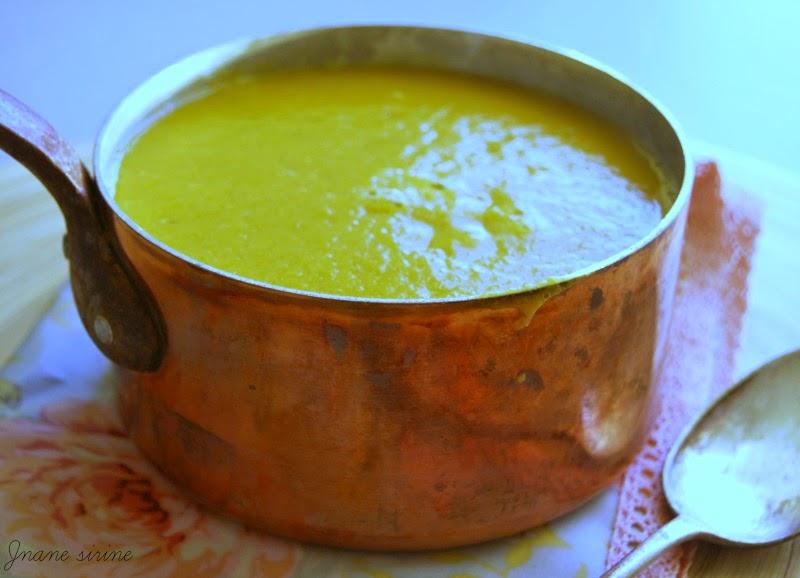 Soupe de potiron lentilles corail curry lait de coco jnane sirine - Soupe potiron lait de coco curry ...